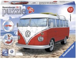 Puslespill 3D Volkswagen Folkevognsbuss 162p