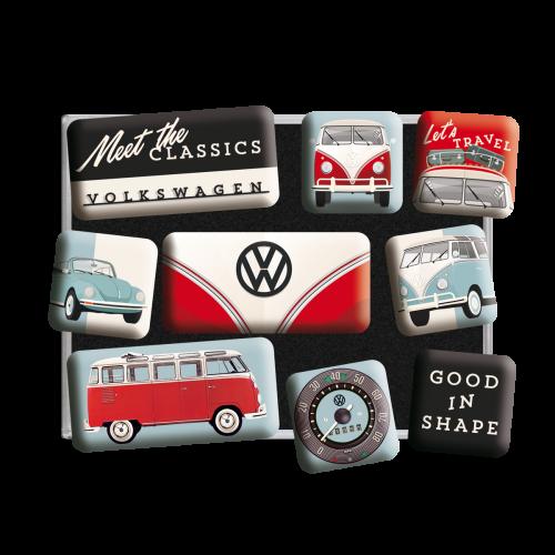 Volkswagen meet the classic magnetsett 9stk