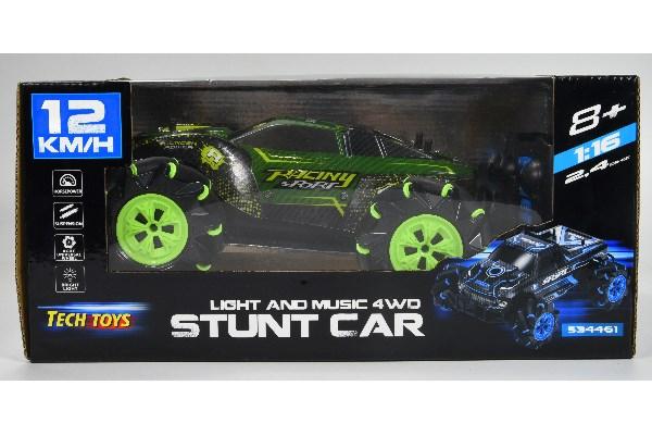 Stunt Car R/C 1:16 2,4GHz light/music green