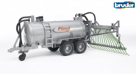Bruder Fliegl barrel trailer with spread tubes