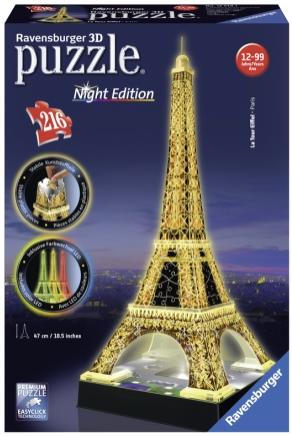 Puslespill 3D Eiffeltårnet Night Edition 216p