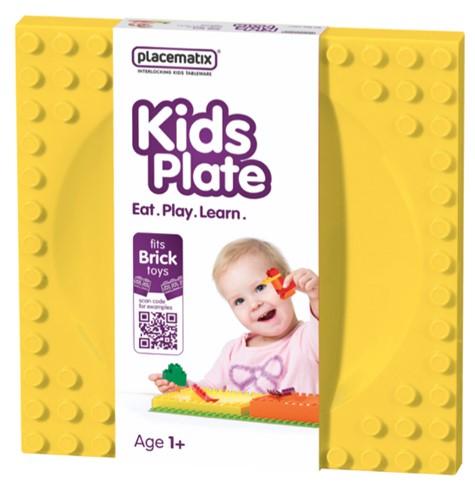 Placematix Tallerken Kids Gul