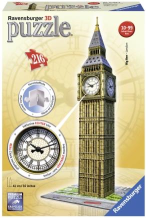 Puslespill 3D Big Ben Clock 216p
