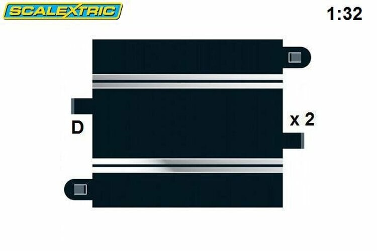 Scalextric Half Straight 175mm