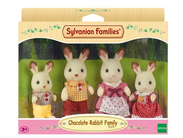 Sylvanian Choccolate Rabbit Family