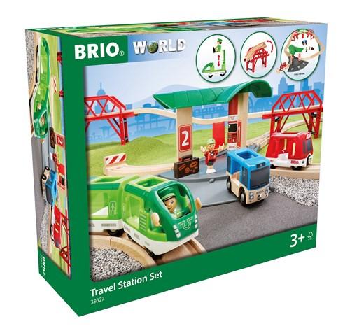 BRIO® Travel togbane med stasjon