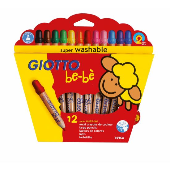 Giotto be-be Super Jumbofarger 12pk