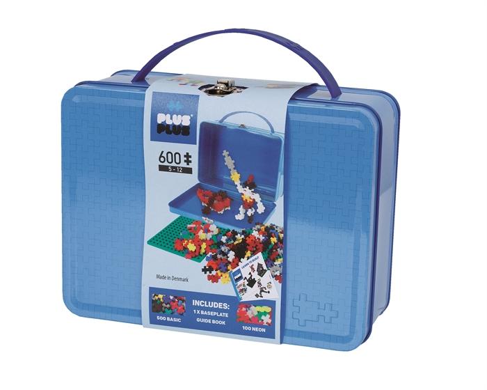 Plus-Plus koffert basic blå