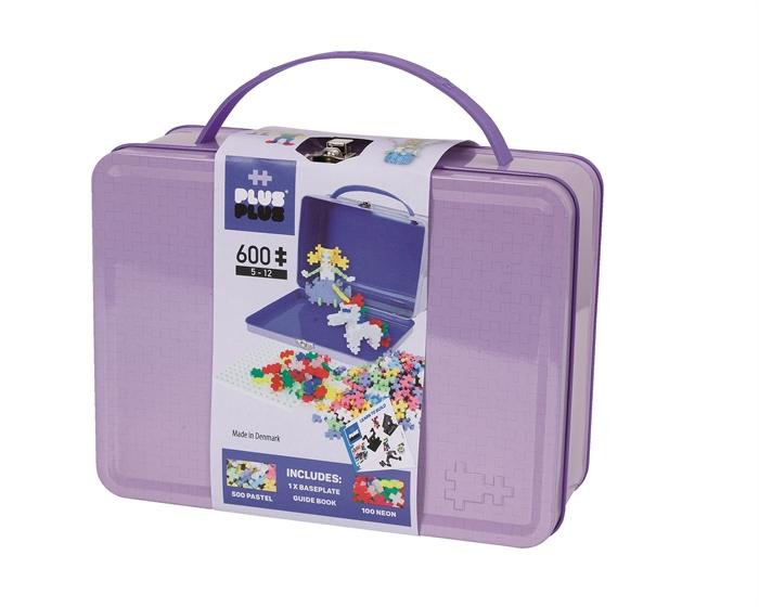 Plus-Plus koffert pastell lillla