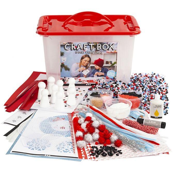 Hobbybox Rød str 34x24x20