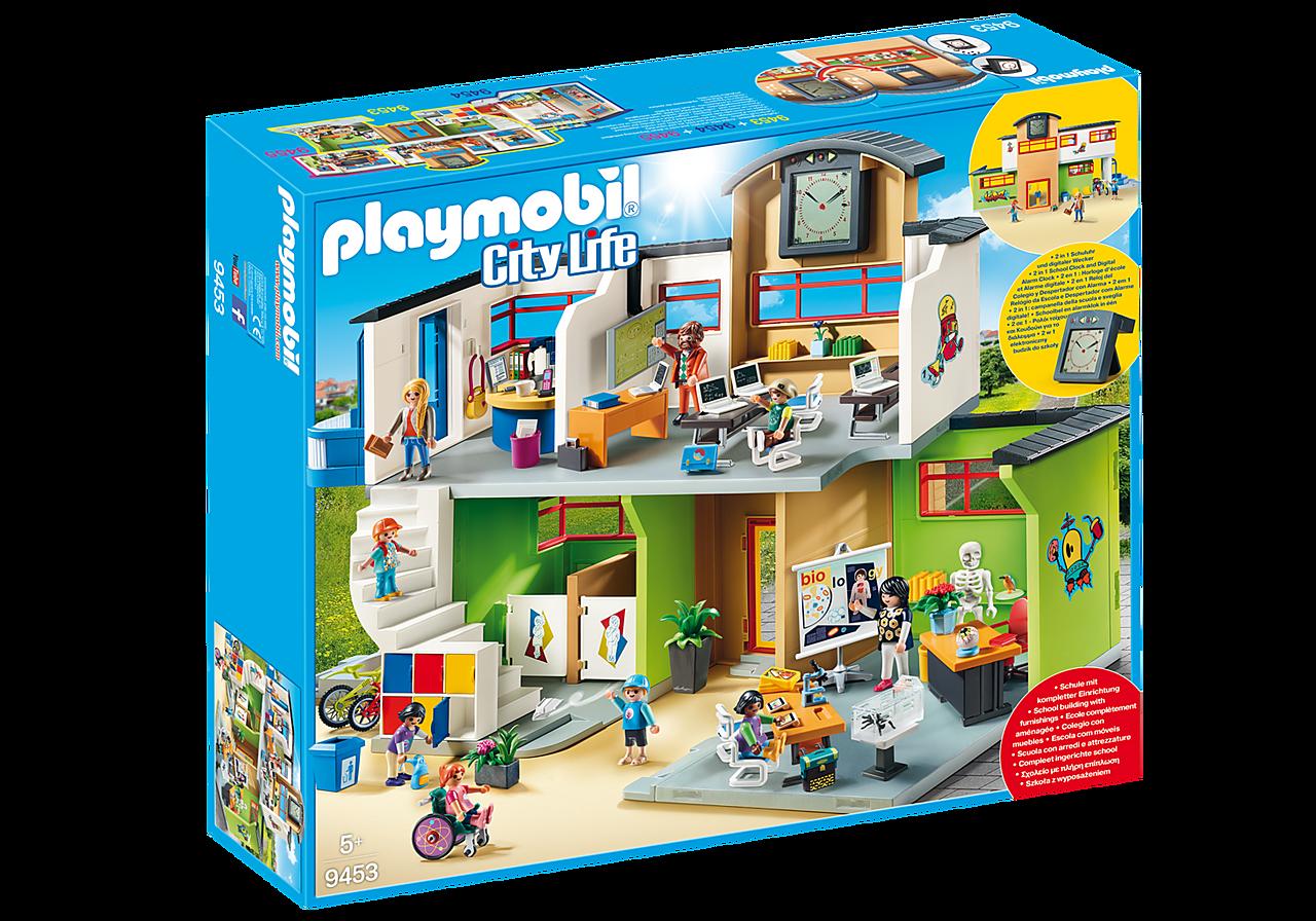 Playmobil innredet skolebygg