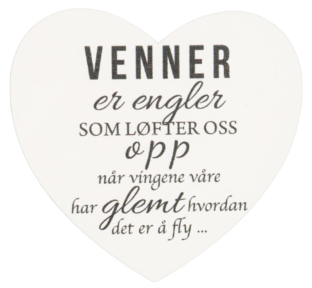 Magnetskilt Venner er engler...