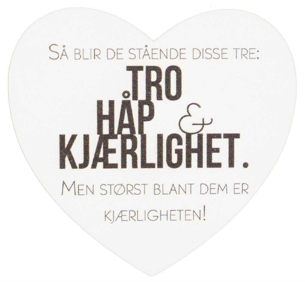 Magnetskilt Tro Håp Kjærlighet
