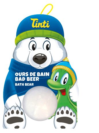 Tinti Badebjørn med to snøballer