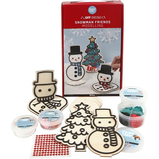 Snømann og juletre