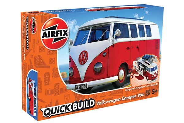 Quick Build Volkswagen Camper Van - Red