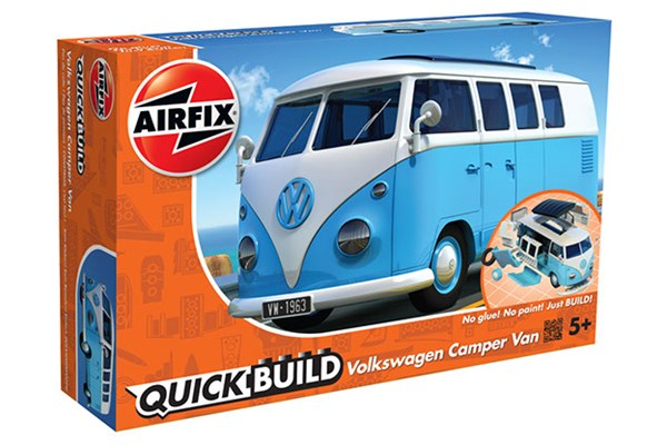 Quick Build Volkswagen Camper Van - Blue