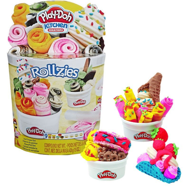 Play-Doh rolled ice cream