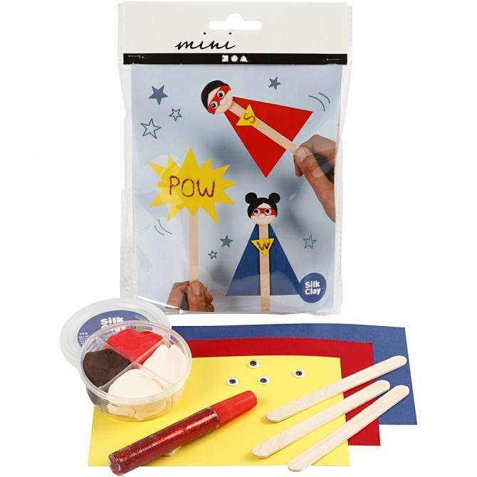 mini Creatice Kit Superhelter på pinne