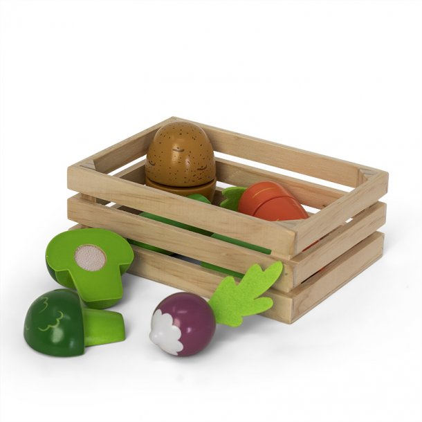 Trekurv med grønnsaker i tre