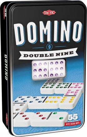 D9 Domino i tinnboks