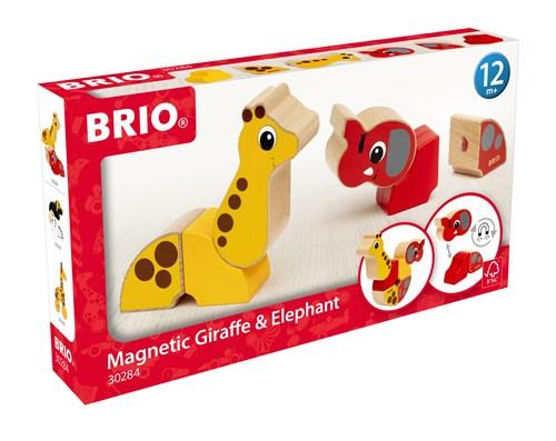 BRIO® Magnetisk elefant og giraff