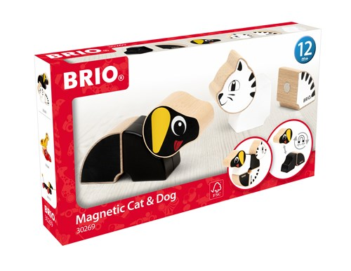 BRIO®Magnetisk dachshund og kat