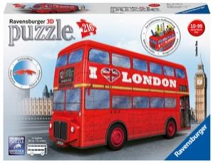 Puslespill 3D Londonbuss 216p