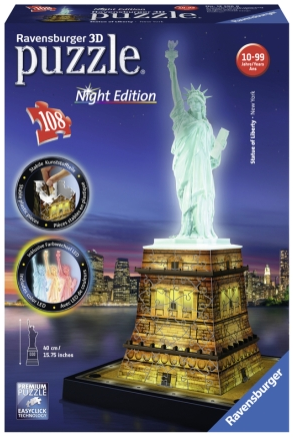Puslespill 3D Statue of Liberty Night edition 108p