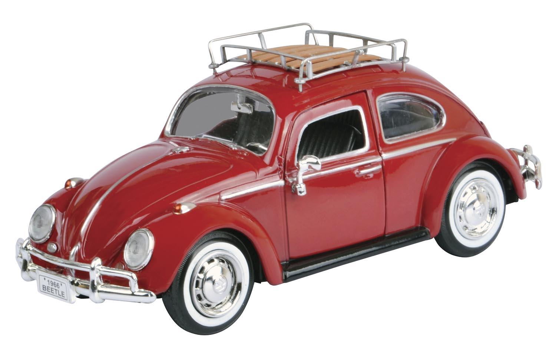 Volkswagen rød m/grind på taket 1:24