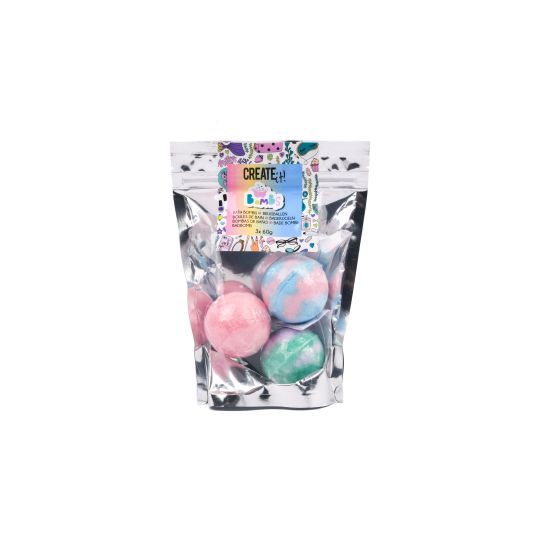 Create it! Bath bomb multicolor 3pk