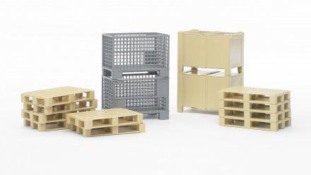 Bruder Logistics Set (paller)