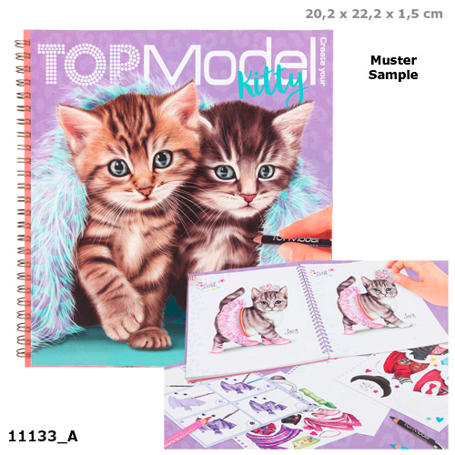 Top Model Create Your Kitty Colouring Book