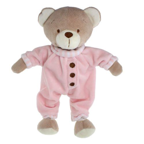 Tinka baby Bamse 25cm m/pysj rosa