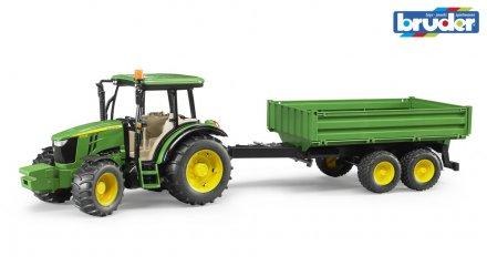 Bruder John Deere 5115 Traktor med tipphenger 1:16