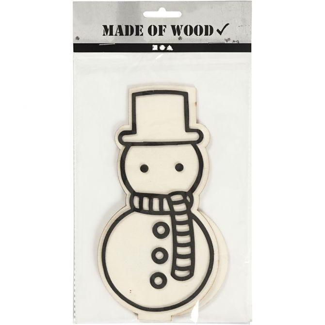 Dekorasjonsfigur snømann H 18,5cm