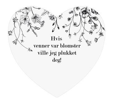 Magnetskilt hjerte  Hvis venner var blomster....