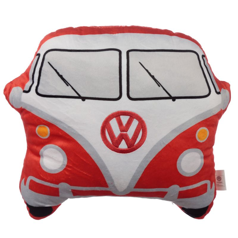 Volkswagen VW T1 Camper Bus Shaped Red Cushion