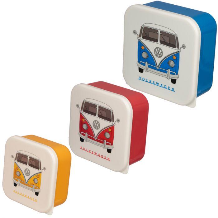 Volkswagen VW T1 Camper Bus Set of 3 Lunch Boxes