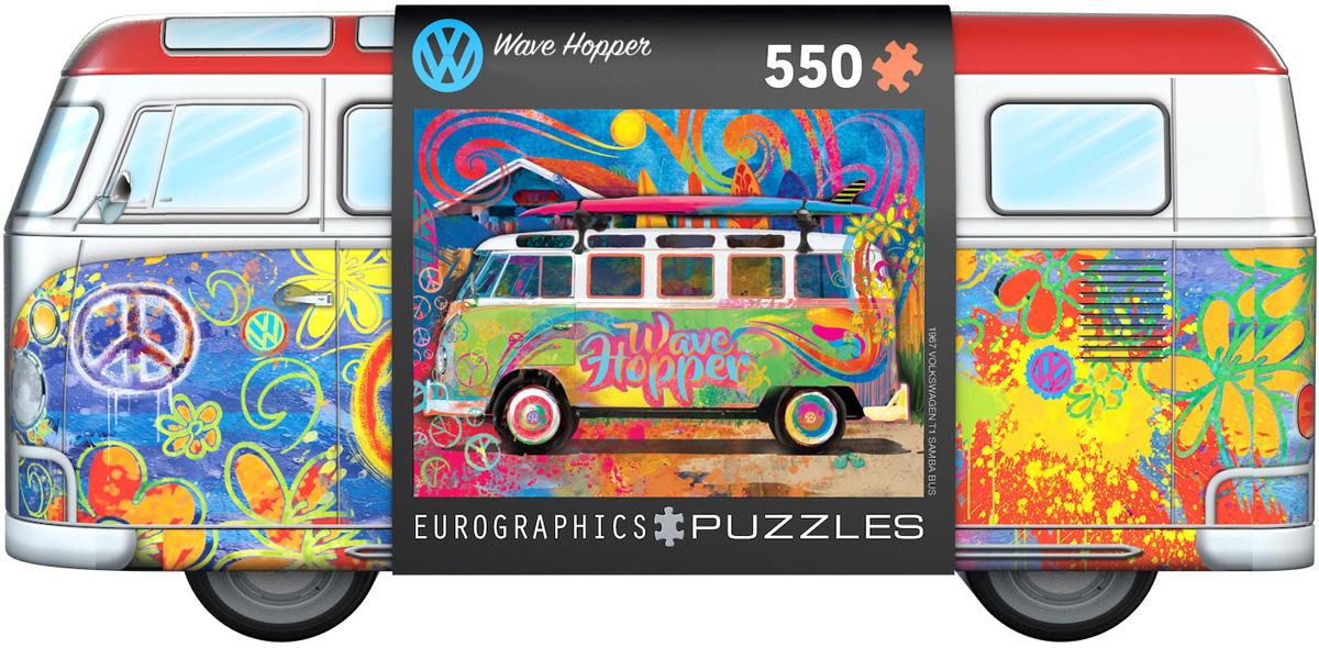 Volkswagen Bus Wave Hopper Puzzle Tin 550 biter