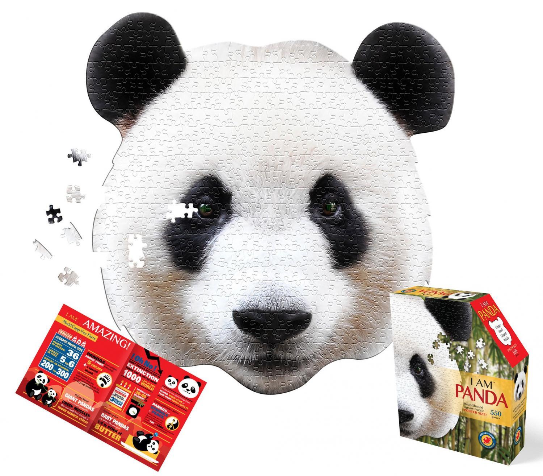 I am Panda Head Shape Puzzles 550 biter