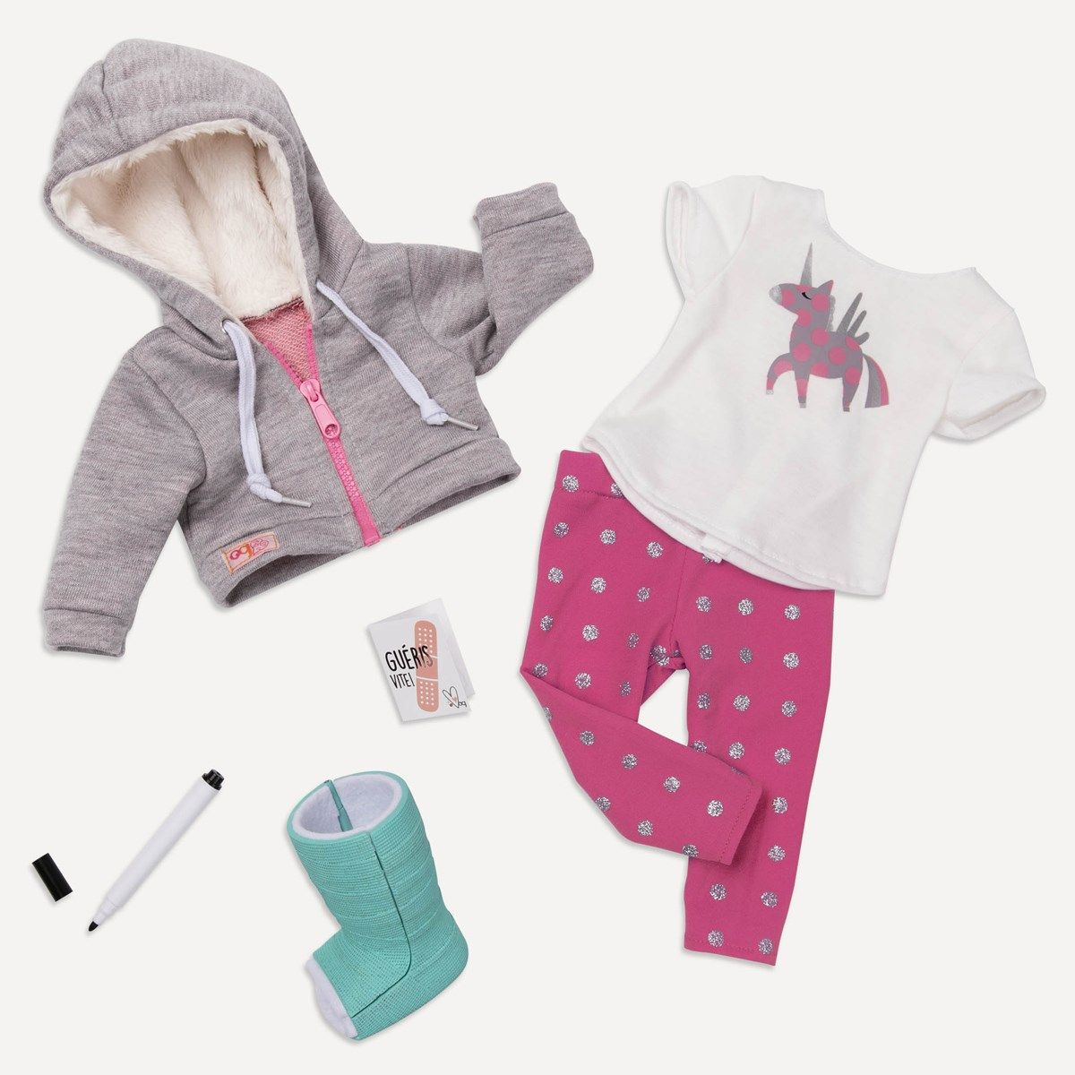 Our Generation Deluxe get well soon outfit