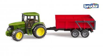Bruder John Deere Traktor m/tipphenger
