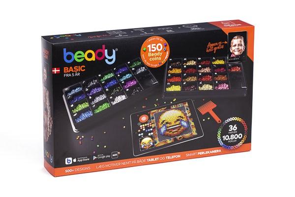 Beady Basic 10800 perler, 4 plater, 1 skrape