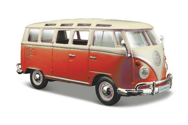 Volkswagen Van Samba 1:24 White/Red