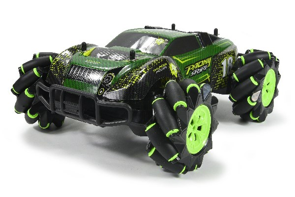 Stunt Car R/C 1:16 2,4GHz light/music green