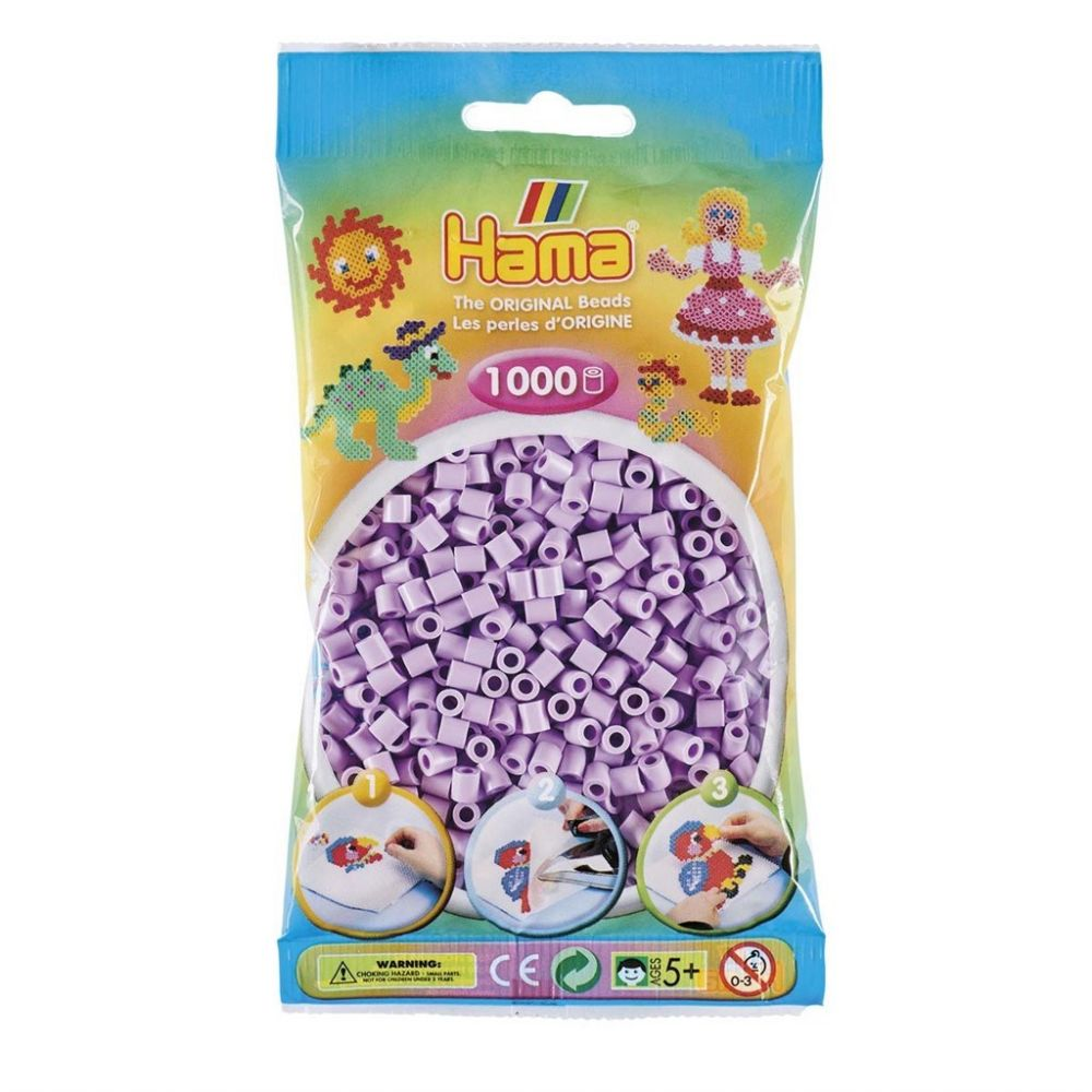 Hama Midi beads 1000 pcs. Pastel Lilac