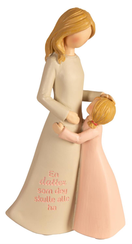 Figur mor/barn beige/rosa En datter som deg...