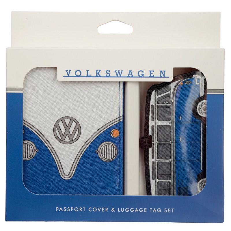 Volkswagen Campervan VW T1 Blå Passfodral och Baga