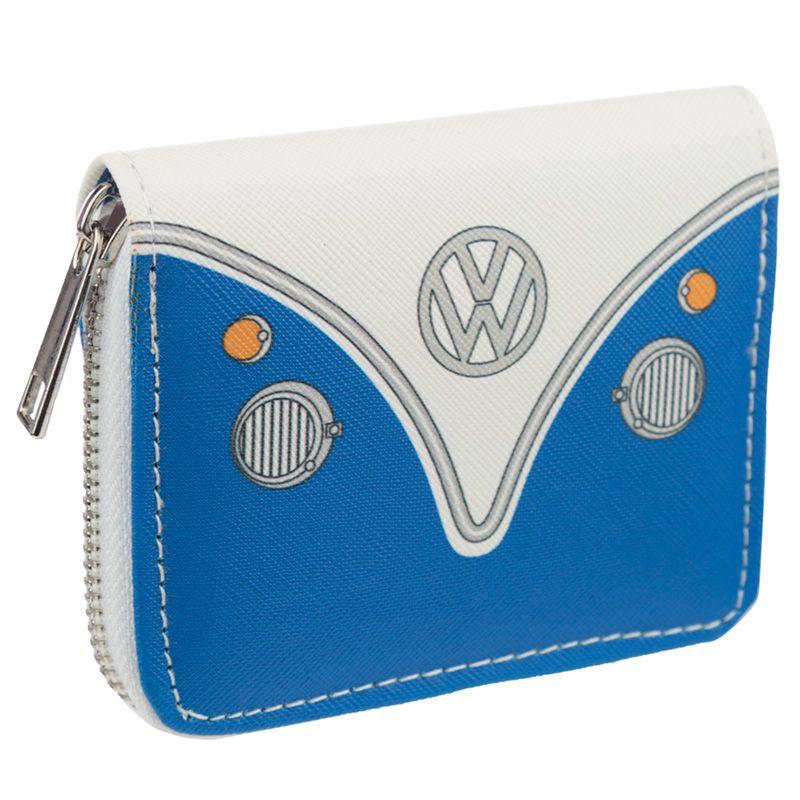 Volkswagen VW T1 Camper Bus Blå Liten Plånbok med